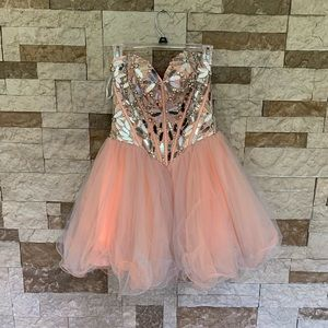 Homecoming dress fit and flare.